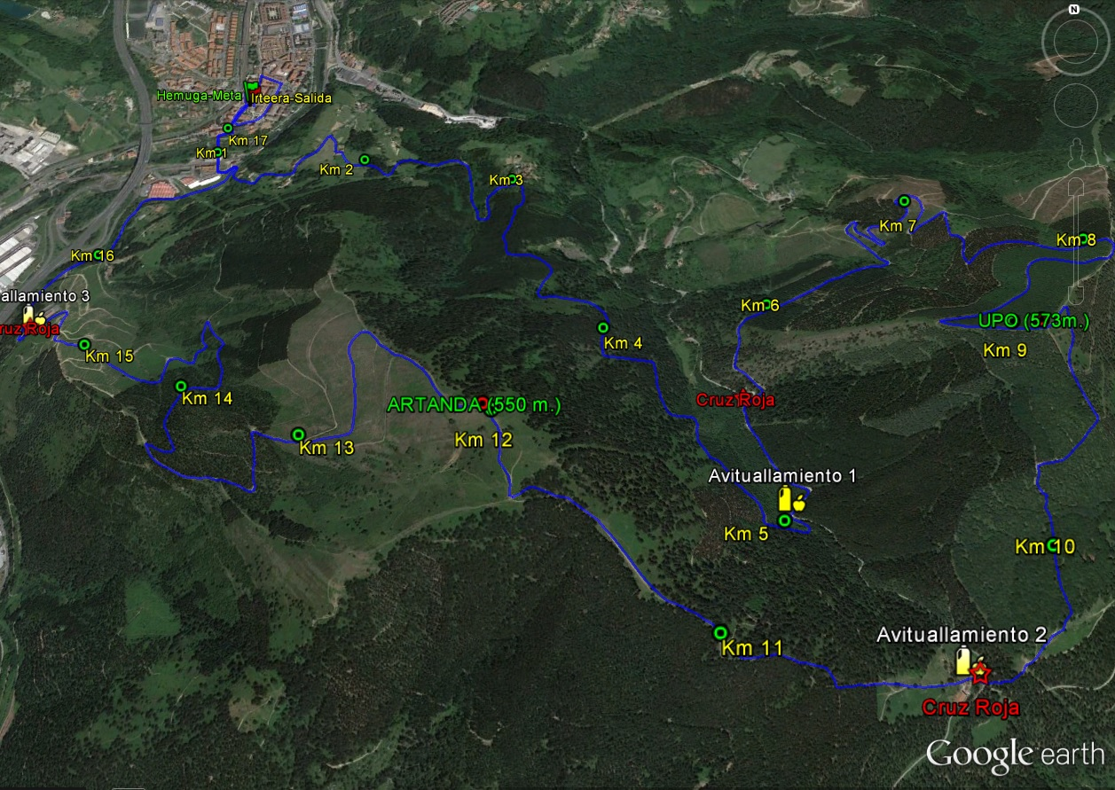 Recorrido Mendi Trail Larga 2016